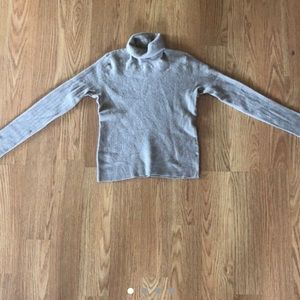 Possibly Cashmere Cropped Nude Turtleneck